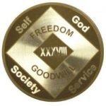 NA Laser Etched Medallions 31 Year Laser Etched NA Medallion