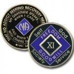 Purple Tri-Plate Medallions 5 Year Tri-Plate Purple NA Medallion