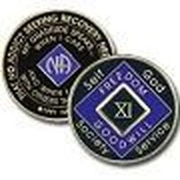 Purple Tri-Plate Medallions 1 Year Tri-Plate Purple NA Medallion
