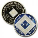 Blue Tri-Plate Medallions 15 Year Blue NA Tri-Plate Medallion
