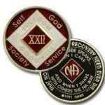 Red Tri-Plate Medallions 13 Year NA Tri-Plate Red Medallion