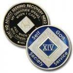 Blue Tri-Plate Medallions 17 Year Blue NA Tri-Plate Medallion