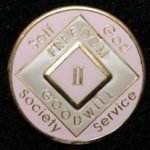 Pink Tri-Plate Medallions 6 Year NA Tri-Plate Pink Medallion