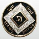 Black Tri-Plate Medallions 29 Year Tri-Plate Medallion Black
