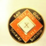 Orange Tri-Plate Medallions Orange 11 Year Tri-Plate Medallion