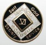 Black Tri-Plate Medallions 20 Year Tri-Plate Medallion Black