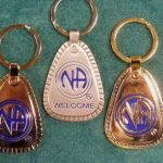 Keychain Medallion Holders and Metal Key Tags NA Metal Welcome Tag Large