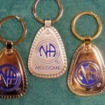 Keychain Medallion Holders and Metal Key Tags NA Metal Multiple Years Key Tag Lg.