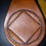 Keychain Medallion Holders and Metal Key Tags NA Leather Key Ring with Symbol