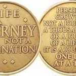 NA Specialty Medallions Life is a Journey, Not a Destin
