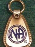 Keychain Medallion Holders and Metal Key Tags Small Metal NA Welcome Key Tag
