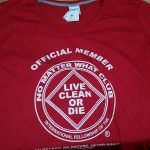 NA T-Shirts NA V Neck T-Shirt Official Member Red