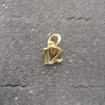 Gold Small Ornate #12 14K Gold