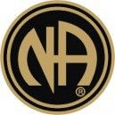 NA Lapel Pins NA Logo Lapel Pin Black & Gold